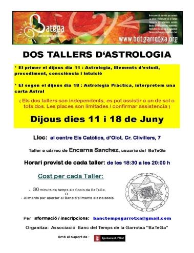 TALLER ASTROLOGIA